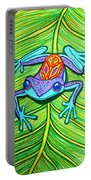 Peace Frog On A Leaf Portable Battery Charger