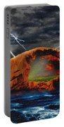 Peace In The Cleft In The Midst Of The Storm Portable Battery Charger