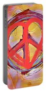 Peace Love  Art Portable Battery Charger
