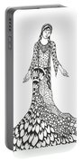Peace Woman Wild Ink Portable Battery Charger