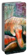 Peaceful Flow - Reclining Nude Portable Battery Charger