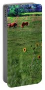 Peaceful Meadow Portable Battery Charger