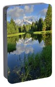 Peaceful Morning In Grand Teton Np Portable Battery Charger