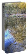 Peaceful Pond Reflections  Portable Battery Charger