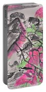 Peach Blossom And Water Buffalo Portable Battery Charger