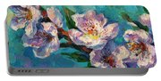 Peach Blossoms Flowers Painting Portable Battery Charger