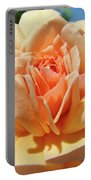 Peach Rose Art Prints Roses Flowers Giclee Prints Baslee Troutman Portable Battery Charger