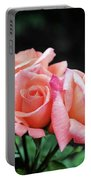 Peach Rosebud Trio Portable Battery Charger