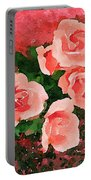Peach Roses Portable Battery Charger