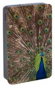 Peacock At The Fort Portable Battery Charger