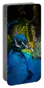 Peacock Closeup Portable Battery Charger