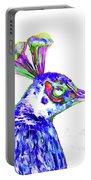 Peacock Closeup Portable Battery Charger