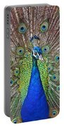 Peacock Displaying His Plumage Portable Battery Charger