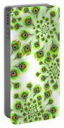 Peacock Feather Abstract Portable Battery Charger