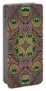 Peacock Feather Mandala Portable Battery Charger