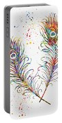 Peacock Feathers-colorful Portable Battery Charger