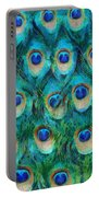 Peacock Feathers Portable Battery Charger by Nikki Marie Smith