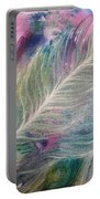 Peacock Feathers Pastel Portable Battery Charger