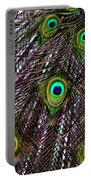 Peacock Feathers Upside Down Portable Battery Charger