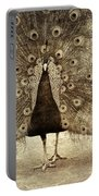Peacock Grunge Portable Battery Charger