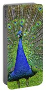 Peacock In A Oak Glen Autumn 3 Portable Battery Charger
