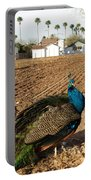 Peacock On The Farm Portable Battery Charger