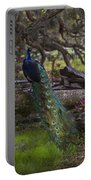 Peacock On The Plantation Portable Battery Charger