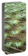 Peacock Tail Feathers  Portable Battery Charger