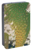 Peacocks And Cherry Tree Portable Battery Charger