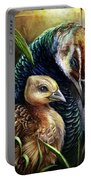 Peahen And Chick Portable Battery Charger