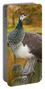 Peahen In Autumn Portable Battery Charger
