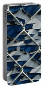 Pealing Paint Fence Abstract 1 Portable Battery Charger