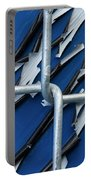Pealing Paint Fence Abstract 5 Portable Battery Charger
