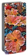 Peanies Flower Blossom Portable Battery Charger