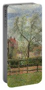 Pear Trees And Flowers At Eragny Portable Battery Charger by Camille Pissarro