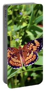 Pearl Crescent Butterfly Portable Battery Charger