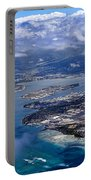 Pearl Harbor Aerial View Portable Battery Charger