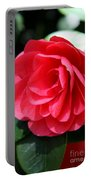 Pearl Of Beauty - Red Camellia Portable Battery Charger