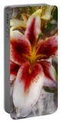 Pearly Petals Satin Leaves Portable Battery Charger