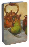 Pears With Copper Kettle Portable Battery Charger
