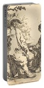 Peasant Couple At Rest Portable Battery Charger