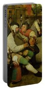 Peasant Dance Portable Battery Charger by Pieter the Elder Bruegel