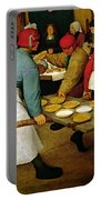 Peasant Wedding Portable Battery Charger by Pieter the Elder Bruegel