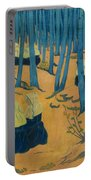 Peasants Gathered In A Sacred Wood_ Portable Battery Charger