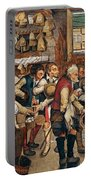Peasants Paying Tithes By Pieter Bruegel I Portable Battery Charger
