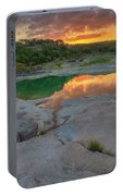 Pedernales River Sunrise, Texas Hill Country 8257 Portable Battery Charger