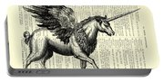 Pegasus Black And White Portable Battery Charger