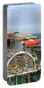 Peggys Cove And Lobster Traps Portable Battery Charger