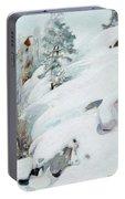 Pekka Halonen, Winter Landscape Portable Battery Charger
