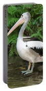 Pelican With A Bird Park In Bali Portable Battery Charger